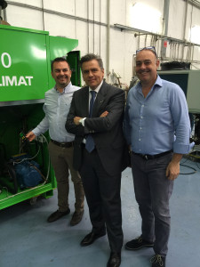 Da sinistra: Matteo Gaggianese ( Responsabile Tecnico Euroklimat), Francesco Cattaneo (Direttore Commerciale Euroklimat) e il Presidente Assofrigoristi Gianluca de Giovanni.