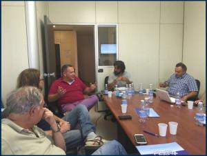 Da sinistra: Franco Faggi, Emiliano Baglioni, Ing. Giuseppe Monfreda, Mario Scuderi e Valentino Verzotto