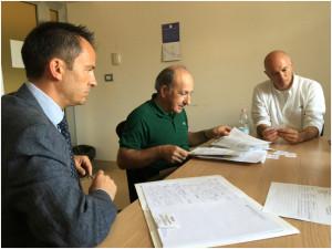 Da sinistra gli interlocutori della Regione Toscana: Segretario alla VP Meneghesso, Ing. Brunetti e Ing. Vendrame.