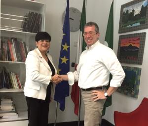 L'Assessore Valentina Aprea con Marco Masini (Direttore Operativo Assofrigoristi)